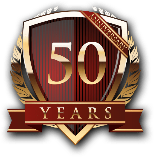 50 years of Service Seal